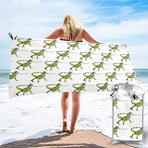 SHYHXQH Toalla de Playa,Lagarto HD,Toalla de Playa de Microfibra Toalla de baño Unisex Manta de Picnic Accesorios de Camping 130x80cm