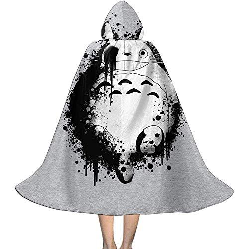 Niet van toepassing volwassen mantel mantel, unisex cosplay rol kostuums, capuchon mantel cape, mijn buurman donker totoro verf Splatter heks tovenaar mantel, halloween partij decoratie bovenkleding, vampier mantel