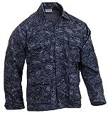 Rothco Camo BDU (Battle Dress Uniform) Military Shirts, Midnight Digital Camo, L