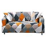 Funda de sofá Heyomart de tela elástica de 1 2 y 3 plazas, funda protectora para sofá de 2 plazas, de poliéster y licra, para muebles (3 plazas, patrón #tablero de ajedrez)