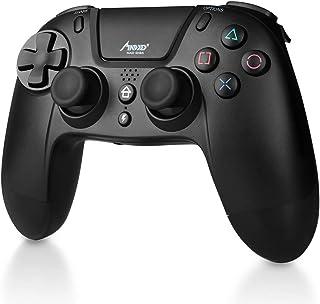 Madgiga ゲームパッド PS4 コントローラー ワイヤレスコントローラー PS4ブルートゥースコントローラー Bluetooth/有線/無線接続 フイット感が一番 高耐久ボタン イヤホンジャック振動/連射機能 PS4/PS3/PC(Windows 7/8/10)対応
