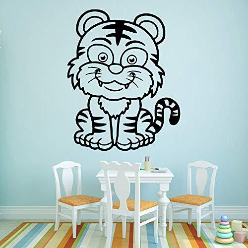 Niedlicher Tiger Wandaufkleber Hauptdekorationszubehör Wasserdichte Wandtattoos Weiches Rosa M 28cm X 35cm