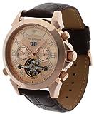 Yves Camani YC1020-C - Reloj de Caballero automático, Correa de Piel Color marrón
