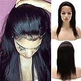 Human Hair Wigs Parrucca Donna Capelli Veri Nera Naturale 360 Lace Front Wig Parrucche Glueless 100%...