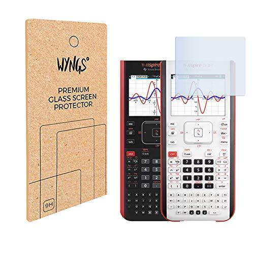Pellicola di protezione del display in vetro temperato compatibile con Texas Instruments TI Nspire CX II-T/TI Nspire CX II-T CAS (2 pezzi)