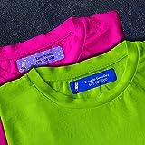 Detalles Creativos Packs de Etiquetas para marcar la Ropa. Etiqueta Personalizada, Termoadhesiva y Super Resistente.… (44u. Sticker Ropa)