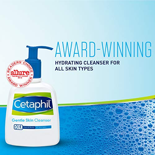 Cetaphil Gentle Skin Cleanser for All Skin Types, Face Wash for Sensitive Skin, 8 oz. Bottle
