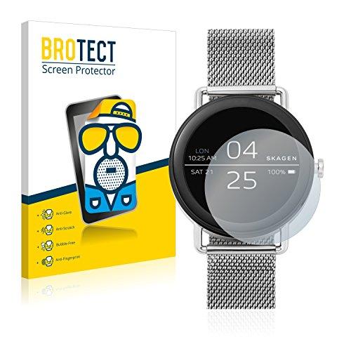 BROTECT 2X Entspiegelungs-Schutzfolie kompatibel mit Skagen Smartwatch Falster 42mm Bildschirmschutz-Folie Matt, Anti-Reflex, Anti-Fingerprint