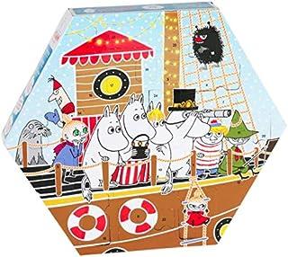 Moomin 2018 - Calendario de Navidad con juguetes de plástico, diseño de barco de adviento