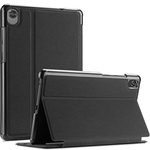 ProCase Buchdeckel Hülle für Lenovo Tab M8 2019 8.0 Zoll/Tab M8 HD LTE 8 (TB-8505F/TB-8505X) Buch Case Design Smart Cover, Schutzhülle mit Multi Ansichtsmodus -Schwarz