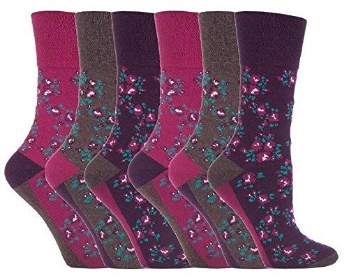 UK 4-8 Calze 6 paia Ladies SockShop Cotton Gentle Grip EUR 37-42