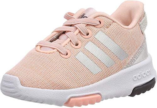 adidas Racer TR Inf, Chaussures de Fitness Garçon Unisex Kinder, Haze Coral/Silver Metallic/Cloud White, 23.5 EU