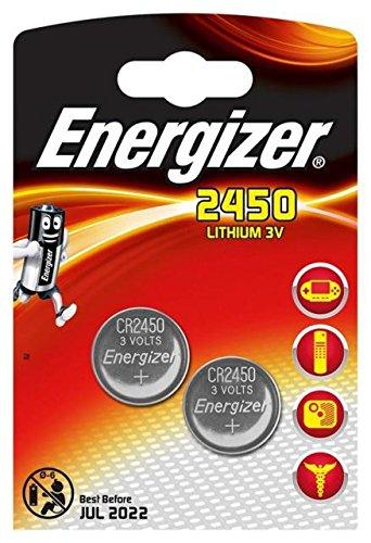 Energizer CR2450 - Lote de 4 pilas (2 blíster de 2 unidades, 3 V)