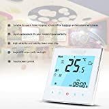 Anself 3A 110~240V Water Heating Energy Saving WiFi Smart Thermostat with Touchscreen LCD