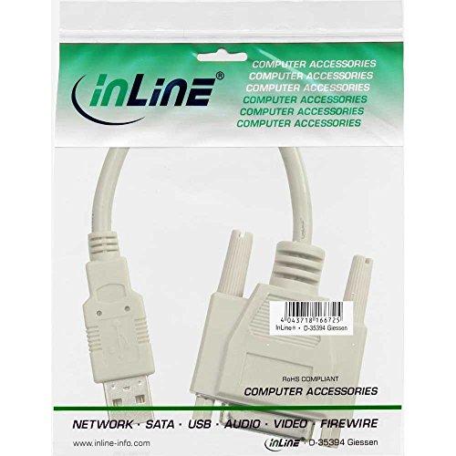 InLine 33101 USB Adapter Kabel, USB Stecker A auf 15pol Buchse