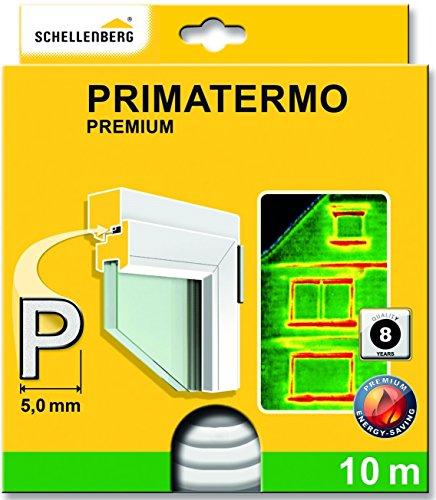Schellenberg 66332 Fenster Dichtung Premium P-Form 9 x 5 mm, 10 m, Gummidichtung, zur Abdichtung von Spalten auch an Türen