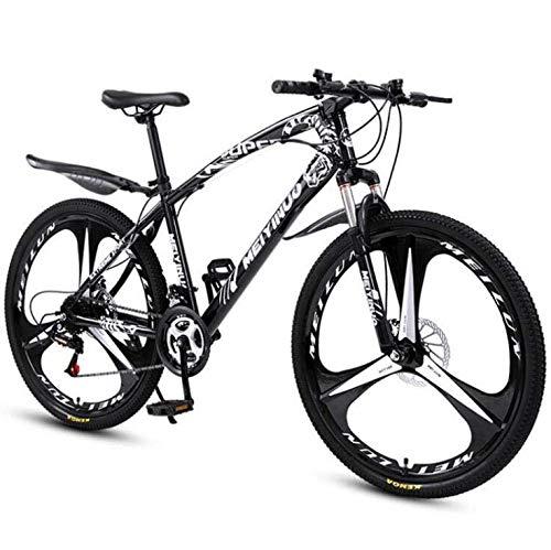 GASLIKE Bicicleta de montaña Bicicleta para Adultos, Cuadro de Acero de Alto Carbono, Bicicletas de montaña rígidas Todo Terreno