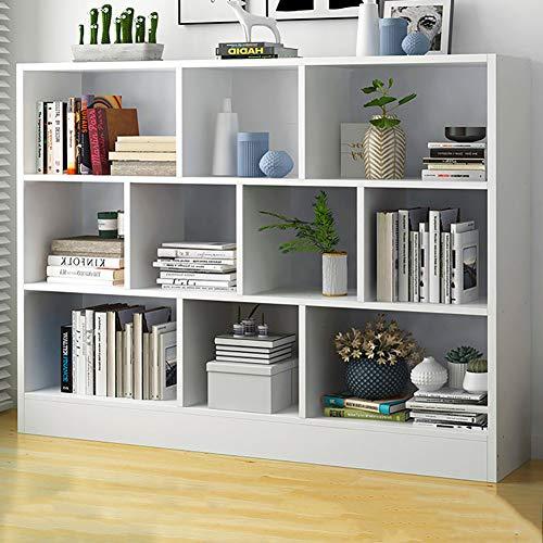 Tall Bücherregal Bodenregal Moderne minimalistische Studenten Home Study Wohnzimmer Kombination Einfaches Bücherregal,Weiß,a