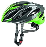 Uvex Erwachsene boss Race Mountainbikehelm, Gray/Neon Green, 52-56