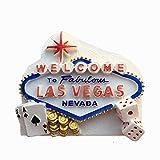 Weekino Las Vegas Estados Unidos América Imán de Nevera 3D Resina de la Ciudad de Viaje Recuerdo Colección de Regalo Fuerte Etiqueta Engomada refrigerador