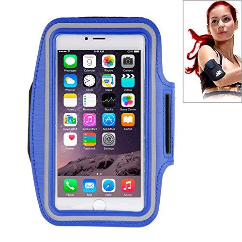 H-HX hoes sport armband met hoofdtelefoon gat en sleuteletui voor iPhone 6 Plus (roze), Dark Blue