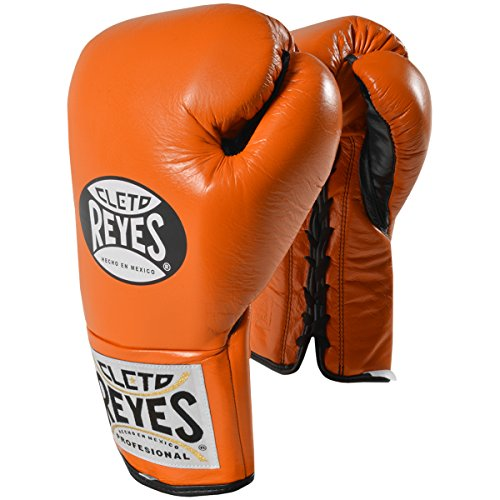 CLETO REYES Official Professional Fight Boxing Gloves Special Edition, Tiger Orange, 8-Ounce