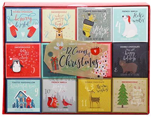 Modern Gourmet Foods - Kakao Geschenkset mit 4 leckeren Geschmacksrichtungen & weihnachtlichen Motiven - 12 Stück