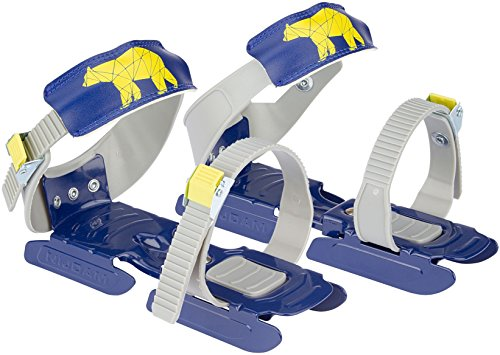Nijdam® Junior Kinderschlitschuhe verstellbare Gleitschuhe Größe 24 - 35 Blau oder Rosa (Blau)