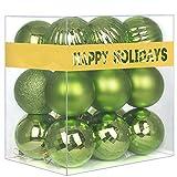 "18Pcs Christmas Balls Ornaments for Xmas Tree - Shatterproof Christmas Tree Decorations Large Hanging Ball Lemon Green 2.5"" x 18 Pack"