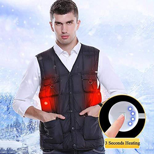 CNJRHBX Verwarmingsvest voor body-warmer met USB, elektrisch, verwarmbaar, voor vissen, sport, kamperen, wandelen, skiën