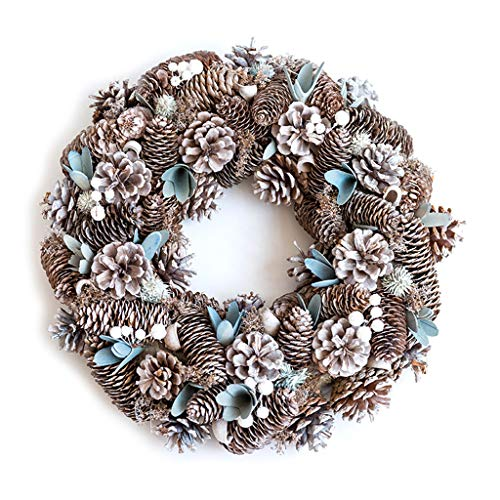 Yuanshenortey Christmas Wreath Decorations Artificial Pine Cones Pine Needle Garland Festival Decorative Accessories