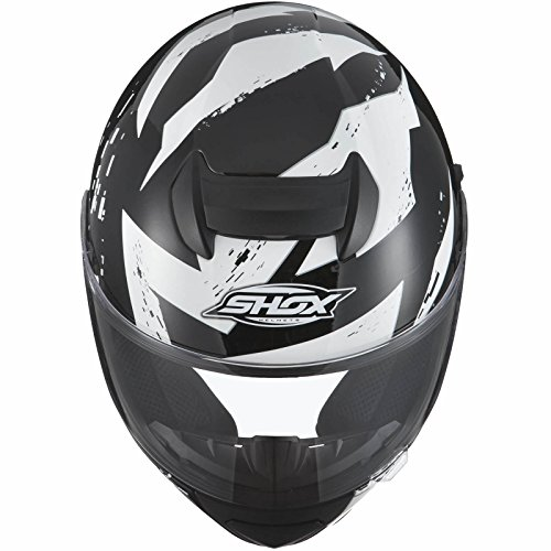 Shox Assault Trigger Motorrad Roller Helm L Schwarz/Weiß - 6