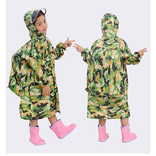 Kinderen gewatteerde Camouflage Regenjas Grote Jongens en Meisjes met Tas Bit Primaire en Secundaire School Studenten Poncho
