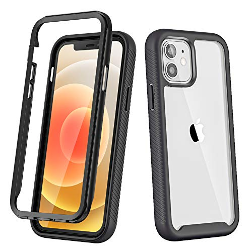 Choiche iPhone 12 Mini Case, Full Body Bumper Case with Dual Layer Rugged Shockproof Protective Frame Cover for iPhone 12 Mini 5.4 inch (Black)