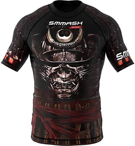 SMMASH Samurai Rashguard Hombre Manga Corta, Camisetas Hombre para MMA, Artes Marciales,...