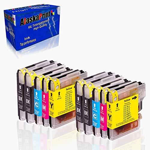 Alaskaprint 10 XL Compatible Cartuchos de Tinta LC1000 LC970 con Brother DCP-130C DCP-135C DCP-150C DCP-330C DCP-350C DCP-357C DCP-540CN DCP-560CN DCP-770CW MFC-235C MFC-465CN | Alta Capacidad