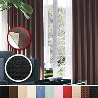 窓美人 センチュリオン 完全遮光 特殊コーティングカーテン 幅100×丈200cm 2枚入り ブラック ドット柄