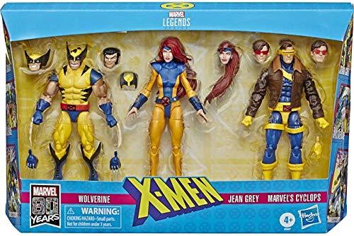 X Men Legends - 3er Pack! Wolverine, Jean Gray und Cyclops! Jede Figur ist 14cm groß