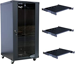 Raising Electronics 15U Wall Mount Network Server Cabinet Rack Enclosure Glass Door Lock 22.75