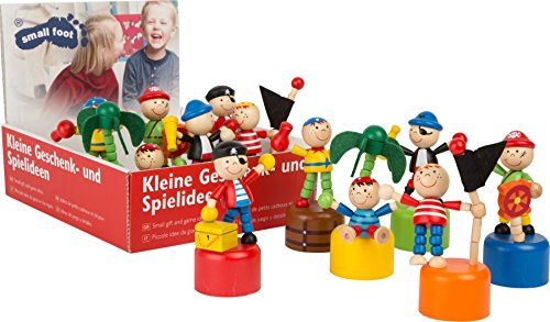 Small Foot 10467 Drückfigur Pirat, 12-teilig (1 Set im Display)