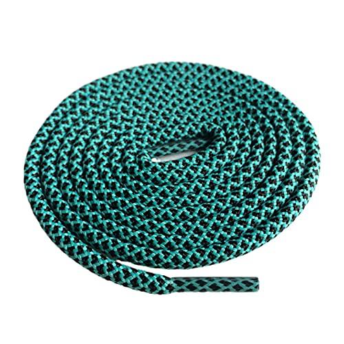 Cordones de los Zapatos de Senderismo Caminar Dos entonó Cuerdas Cordones reemplazo del Zapato Redondo del cordón Cordones Cuerda, 31 Negro Verde Claro, 140cm