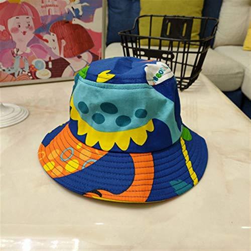 Mcttui del sombrero del cubo del sombrero de Sun P Dinosaurio impreso bebé sombrero de dibujos animados algodón cubeta sombrero niño pescador gorras verano sombrero sol sombrero niño niño y niña sombr