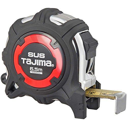 タジマ(Tajima) コンベックス 剛厚ステンレステープ6.5m×25mm 剛厚Gステンロック25 尺相当目盛付 GAGSL25-65S