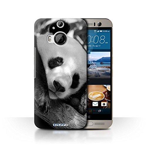 Hülle Für HTC One M9+/Plus Zoo-Tiere Pandabär Design Transparent Ultra Dünn Klar Hart Schutz Handyhülle Hülle