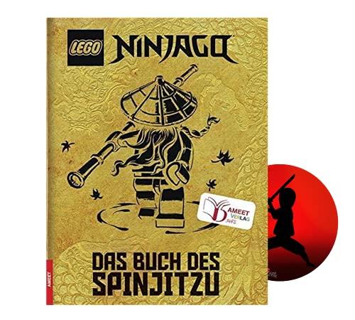 Lego NINJAGO – Das Buch des Spinjitzu (Jubiläumsausgabe) + Ninja Sticker, Handbuch ab 6 Jahren