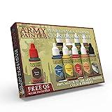 The Army Painter - Warpaints Starter Farbset | 10 Acrylfarben und 1 Pinsel | für Beginner in der Wargames Miniatur Modellmalerei