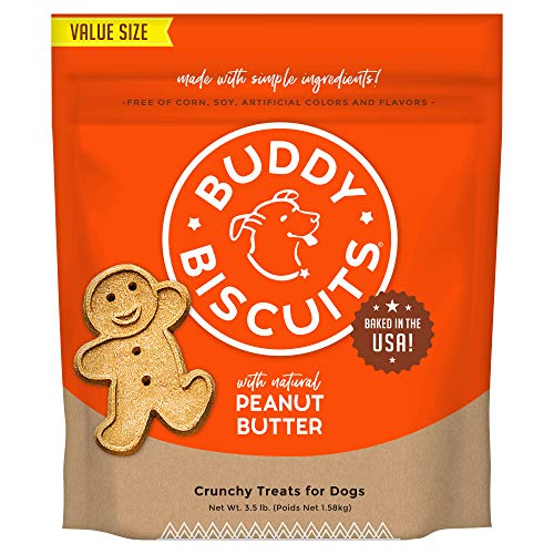 Buddy Biscuits Oven-Baked, Healthy Whole-Grain, Crunchy Treats for Dogs, 3.5lb
