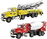 zeyujie Modelo Combinado de aleación de camión Mezclador de Cemento y concreto Americana de Tapa Dura Carro de la ingeniería camión Bomba Estadounidense Frontal de aleación de Mano de Obra Fina