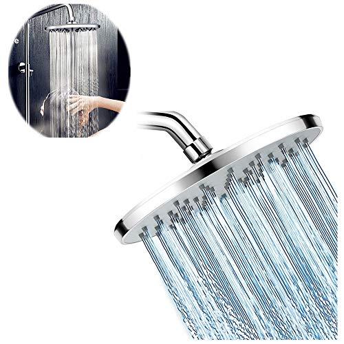 ZYZ 8 inch Plating hoge druk douchekop in helder chroom afwerking dekking douche regenval Spray ontspanning voor hoge waterdruk en stroom