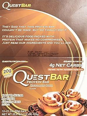 Quest Bar Cinnamon Roll - Box of 12 - 2 Pack